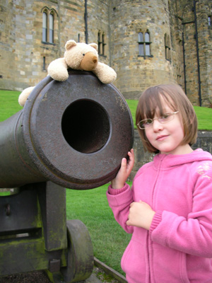 With Lennox at Alnwick Castle, August 08