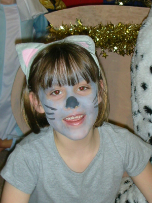 Me as a cat in the school nativity, 2008